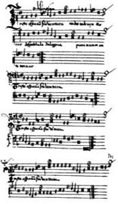 Perspective-musical notation